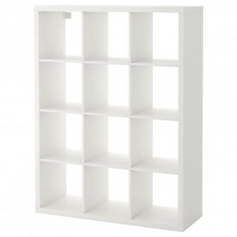 IKEA KALLAX Etajera, alb, 112x147 cm