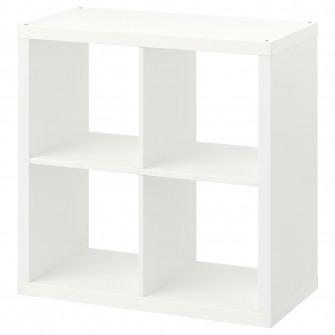 IKEA KALLAX Etajera, alb, 77x77 cm