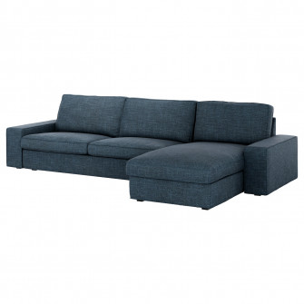 IKEA KIVIK Canapea 4 locuri, Hillared cu Tezlong, Hilla