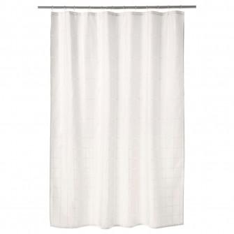 IKEA KLOCKAREN Perdea dus, alb, 180x200 cm