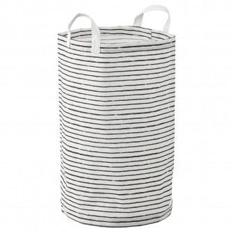 IKEA KLUNKA Cos rufe, alb, negru, 60 l