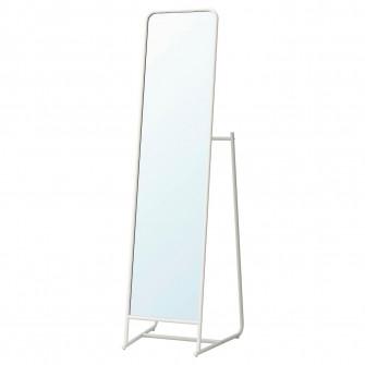 IKEA KNAPPER Oglinda cu suport, alb, 48x160 cm