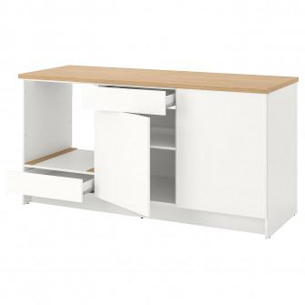 IKEA KNOXHULT Corp baza cu usi + sertar, alb