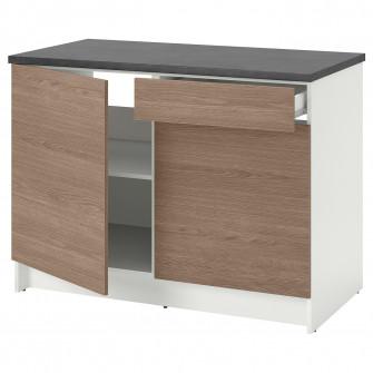 IKEA KNOXHULT Corp baza cu usi + sertar, aspect lemn, g