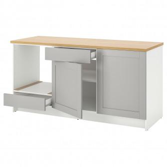 IKEA KNOXHULT Corp baza cu usi + sertar, gri