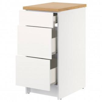 IKEA KNOXHULT Corp baza cu sertare, alb
