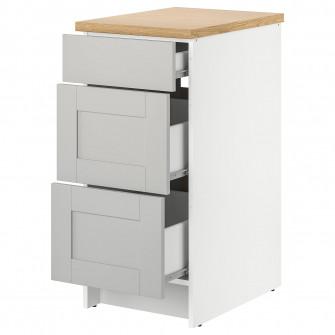 IKEA KNOXHULT Corp baza cu sertare, gri