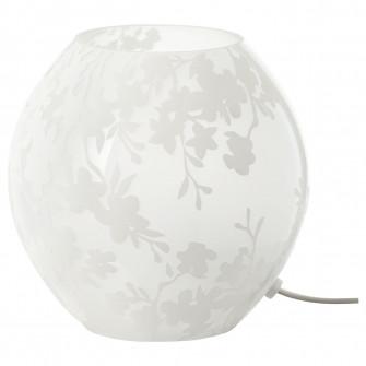 IKEA KNUBBIG Veioza, flori de cires alb, 18 cm