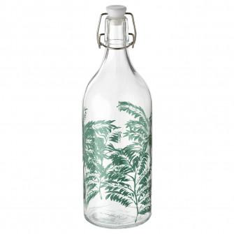 IKEA KORKEN Sticla cu dop, sticla transparenta, cu mode