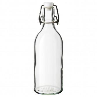 IKEA KORKEN Sticla cu dop, sticla transparenta, 0.5 l