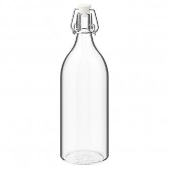 IKEA KORKEN Sticla cu dop, sticla transparenta, 1 l