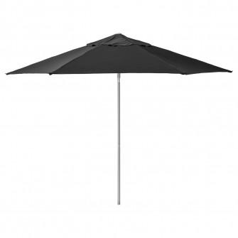 IKEA KUGGO / LINDOJA Umbrela soare, negru, 300 cm