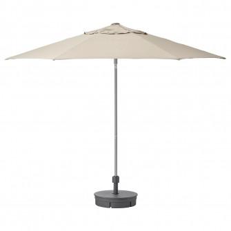 IKEA KUGGO / LINDOJA Umbrela+baza, bej, Gryto gri inchi
