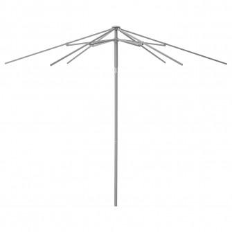 IKEA KUGGO Cadru umbrela, inclinat, gri, 300 cm
