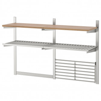 IKEA KUNGSFORS Sina/polita/suport cutite/gratar, inox,