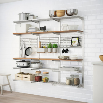 IKEA KUNGSFORS Sina suspensie+polita/gratar perete, ino