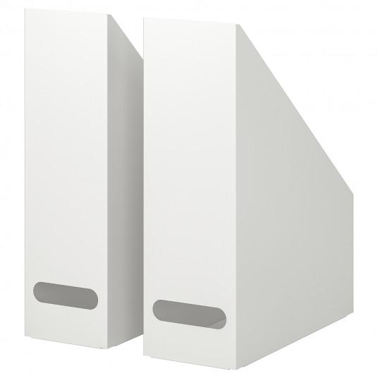 IKEA KVISSLE Set 2 bibliorafturi, alb