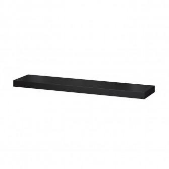 IKEA LACK Polita, negru-maro, 110x26 cm