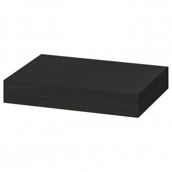 IKEA LACK Polita, negru-maro, 30x26 cm