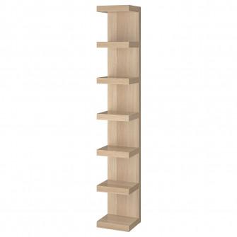 IKEA LACK Etajera suspendata, aspect stejar antichizat,