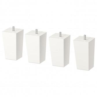 IKEA LATTHET Picior, alb, lemn, 11 cm