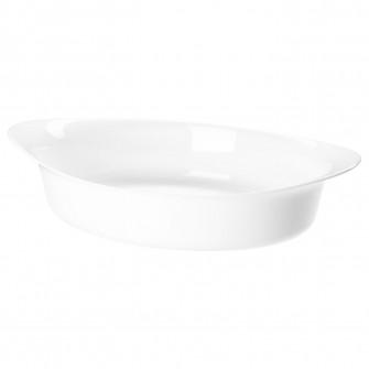 IKEA LATTVIKTIG Vas cuptor, alb, 30x19 cm