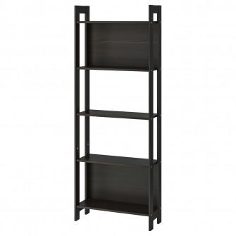 IKEA LAIVA Biblioteca, negru-maro, 62x165 cm