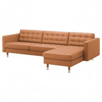 IKEA LANDSKRONA Canapea 4 locuri, cu sezlong, Grann/Bom