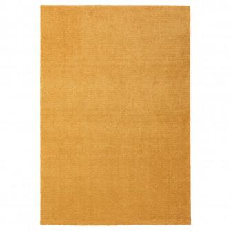 IKEA LANGSTED Covor, fir scurt, galben, 133x195 cm