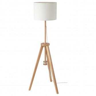 IKEA LAUTERS Lampadar, frasin, alb