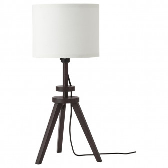 IKEA LAUTERS Veioza, maro frasin, alb