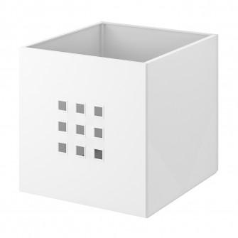 IKEA LEKMAN Cutie, alb, 33x37x33 cm
