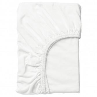IKEA LEN Cearsaf cu elastic, alb, 70x160 cm
