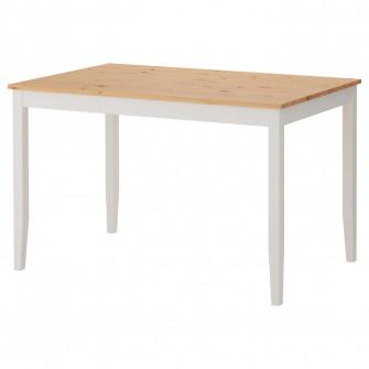 IKEA LERHAMN Masa, aspect antichizat, vpst alb, 118x74