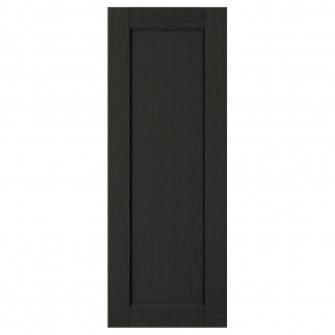 IKEA LERHYTTAN Usa, vopsit negru, 30x80 cm