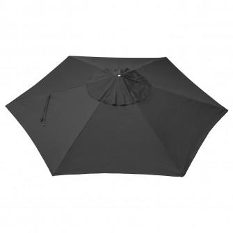 IKEA LINDOJA Panza umbrela, negru, 300 cm