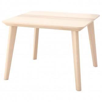 IKEA LISABO Masuta cafea, furnir frasin, 70x70 cm