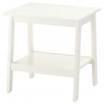 IKEA LUNNARP Masuta cafea, alb, 55x45 cm