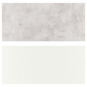 IKEA LYSEKIL Panou perete, 2 fete alb alb, gri abtn, 11