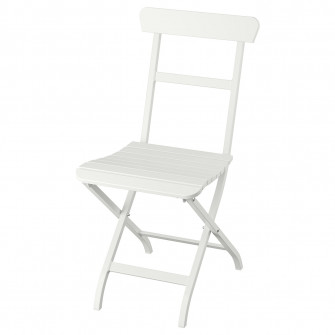 IKEA MALARO Scaun exterior, alb pliant alb