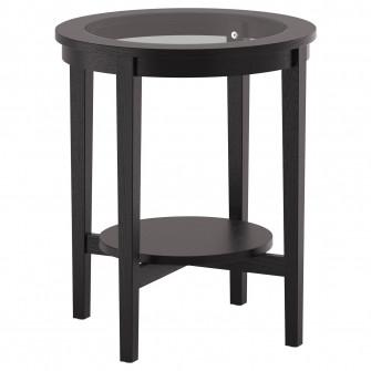 IKEA MALMSTA Masuta cafea, negru-maro, 54 cm