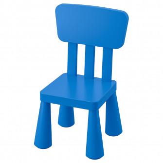 IKEA MAMMUT Scaun pentru copii, interior/exterior, alba