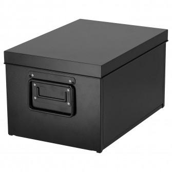 IKEA MANICK Cutie cu capac, negru, 25x35x20 cm