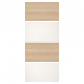 IKEA MEHAMN 4 panouri/cadru usa glisanta, aspect stejar