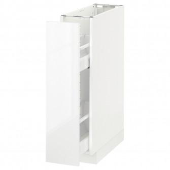 IKEA METOD Corp baza/accesorii int culisante - alb, Rin