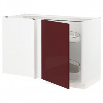 IKEA METOD Corp baza colt+accesoriu culisant - alb Kall