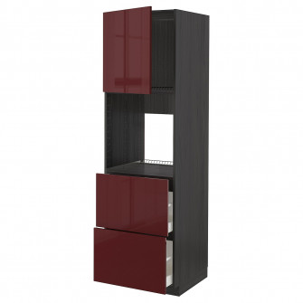 IKEA METOD / MAXIMERA Corp inalt cuptor+u/2fr/2sr, negr