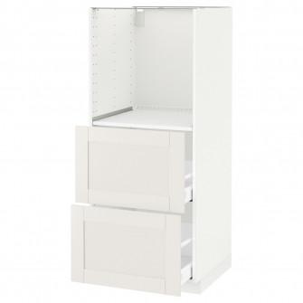 IKEA METOD / MAXIMERA Corp inalt cuptor+2sertare, alb,