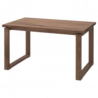 IKEA MORBYLANGA Masa, furnir stejar vopsit maro, 140x85