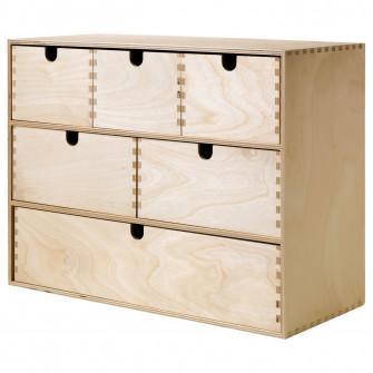 IKEA MOPPE Organizator, placaj mesteacan, 42x18x32 cm